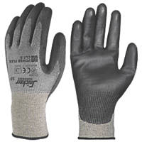 Snickers Power Flex Cut 5 Gloves Grey/Black Large