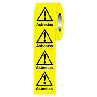 """""""Warning Asbestos"""" Adhesive Labels 50 x 50mm"""