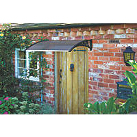 Greenhurst Easy Fit Door Canopy Black 1 x 0.6 x 0.23m