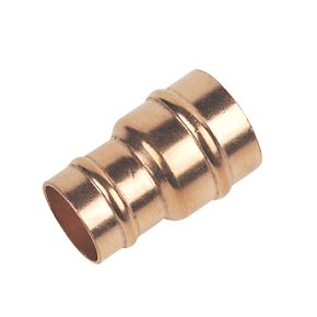 28 x 22 x 28 mm Copper Solder Ring Unequal Tee