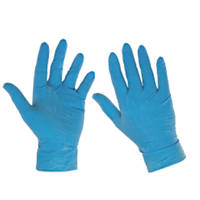 Cleangrip  Latex Powdered Disposable Gloves Blue Large 100 Pack