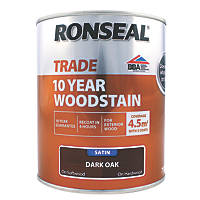Ronseal Exterior Woodstain Satin Dark Oak 750ml