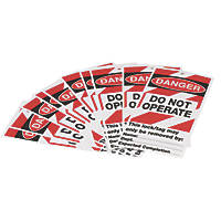 'Danger Do Not Operate' Safety Maintenance Tags 10 Pack