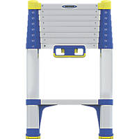 Werner  Anodised Aluminium & Plastic Soft-Close Telescopic Ladder 2.6m