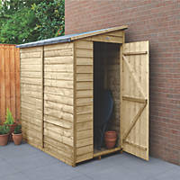 "Forest  3' 6"" x 6' (Nominal) Pent Overlap Timber Shed"