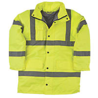 "Hi-Vis Padded Jacket Yellow Large 43"" Chest"