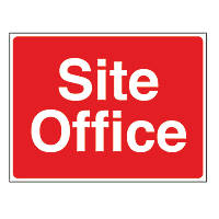 """""""Site Office"""" Stanchion Sign 450 x 600mm"""