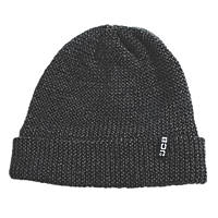 JCB  Work Beanie Black & Grey Marl