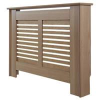 Contemporary Suffolk Radiator Cabinet Small Natural Oak Veneer 1020 X 180 X  800mm