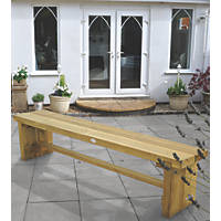 Forest Double Sleeper Garden Bench Softwood 1800 x 350 x 445mm