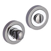 Smith & Locke Standard Thumbturn Set Chrome / Black 50mm