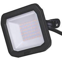 Luceco Slimline LED Floodlight Black 30W 3000lm