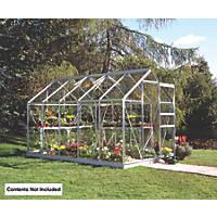 Halls Popular Framed Greenhouse Aluminium 6' x 10'
