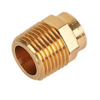 """Endex  Brass End Feed Adapting Male Coupler 15mm x ½"""""""