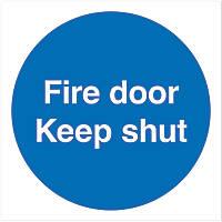 """""""Keep Shut"""" Fire Door Sign 100 x 100mm"""