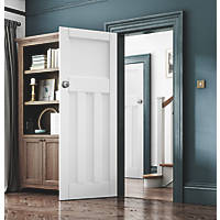 Jeld-Wen Deco Primed  Wooden 3-Panel Internal Door 1981 x 762mm