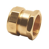 Pegler PX41 Brass Compression Adapting Female Coupler 15mm x ½""