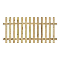 Grange Palisade Picket Fence Panels 1.8 x 0.9m 3 Pack