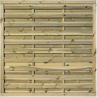 Rowlinson Gresty Double-Slatted  Fence Panel 6 x 6' Pack of 3
