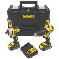 DeWalt DCK2060S2T-SFGB 18V 1.5Ah Li-Ion XR Brushless Cordless Twin Pack