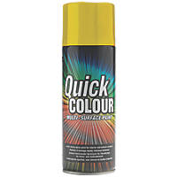 Quick Colour Spray Paint Gloss Yellow 400ml