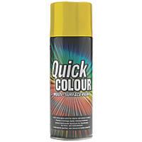 Quick Colour Spray Paint Gloss Yellow 400ml