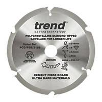 Trend Fibreboard Sawblade 216 x 30mm 6T