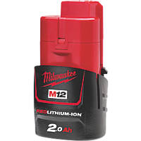 Milwaukee M12 B2 12V 2.0Ah Li-Ion RedLithium Battery