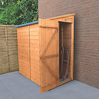 Forest Delamere 3' x 6' (Nominal) Pent Shiplap Timber Shed with Assembly