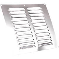 Map Vent Fixed Louvre Vent Chrome Stainless Steel 229 x 229mm