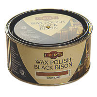 Liberon Black Bison Paste Wax Satin to Gloss Dark Oak 500ml