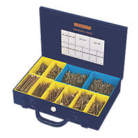 Goldscrew Plus PZ Double Self-Countersunk Woodscrew General Trade Case 1400 Pcs