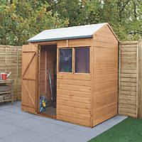 Forest Delamere 6' x 4' (Nominal) Reverse Apex Shiplap Timber Shed with Assembly