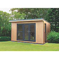 Forest Xtend+ 13' x 10' Pent Insulated Garden Office with Base & Assembly