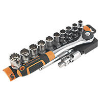"Magnusson  1/2"" Drive 12-Point Socket Set 13 Pieces"