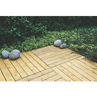 Forest  Patio Deck Tile Kit 1.2m² 4 Pack
