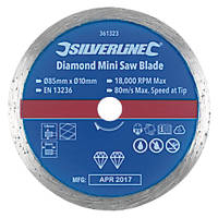 Tile Mini Diamond Circular Saw Blade 85 x 10mm