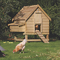 Rowlinson Pressure-Treated Timber Chicken Coop 1540 x 1230 x 1580mm