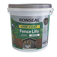 Ronseal One Coat Fence Life Charcoal Grey 9Ltr