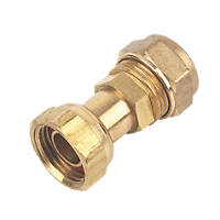 Compression Straight Tap Connector 15mm x ½""