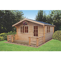 Shire Kinver Log Cabin 3.5 x 3.5m
