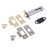 Smith & Locke Electro Brass / Satin Chrome Tubular Mortice Latch 101mm Case - 81mm Backset