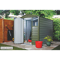 Trimetals Titan 640 Metal Shed  6' 6 x 5' (Nominal)