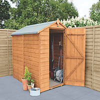 Forest Delamere 4' x 6' (Nominal) Apex Shiplap Timber Shed with Base & Assembly
