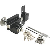 GateMate Black Euro Profile Long Throw Lock with Thumbturn 85mm