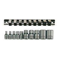 Teng Tools Mixed Drive TX-E Socket Rail Set 10 Pieces