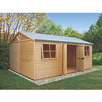 "Shire 17' 7"" x 12' 1"" (Nominal)  Tongue & Groove Timber Workshop with Assembly"