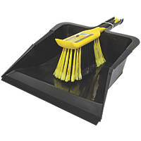 Bentley Bulldozer Heavy Duty Dustpan & Brush Black / Yellow