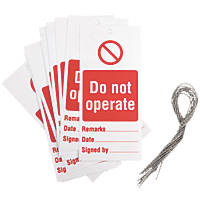'Do Not Operate' Safety Maintenance Tags 10 Pack