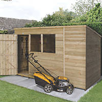 Forest 10' x 6' (Nominal) Pent Overlap Timber Shed